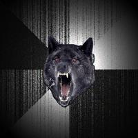 Безумный волк (Insane wolf) шаблон мемгенератора
