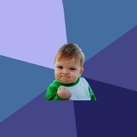 Успешный малыш (Success kid) шаблон мемгенератора
