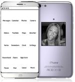 .■ill three G MessagesCalendarPhotosCamera UideosYouTubeMapsLUeather NotesRemindersClockSettings NewsstandiTunesRpp Store Phone ^MailSafariMusic lg w.  iPhone Ocugned by Apple m CafitonU Assembled in China Vod<*l No XXXXX fCC IDBCGAXXXXX K I0.579C AXXXXX C •141 U