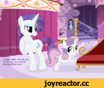 Sweetie Belle, why are you barricading your teacher into the fitting room?
