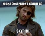 Ходил сo стрелой в колене до Skyrim
