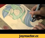 Speed drawing MLP - Lyra,Entertainment,,I have got SO SO MANY request for drawing Lyra, and here you go, hope you guys likes it! The body color may look blue on the video, but it's green, I promise! ;)    Facebook: https://www.facebook.com/pages/Artwork-of-Kattvalk/231749516860371 Tumblr: