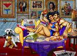'^automobile fow G»s*t? Superman et Wonder Woman s'cmbrasscn»