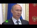 Путин: Как только Запад заходит в тупик, то сразу же перекладывает ответственность на Россию,News,,Утверждения о том, что ключ решения проблем на Украине находится в Москве -- уловка Запада, к которой он прибегает, заведя ситуацию в тупик, заявил Владимир Путин на пресс-конференции по итогам встречи