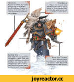 Frostfang Ragnar's frost blade was centuries ago by the Master Iron Priest Fergus Forgrim, its chainsaw teeth fashioned from a rare metal whose secret died with its maker. Wolf Tail Talisman Space Wolves are highly superstitious and carry a collection of talismans which they feel will somehow pr