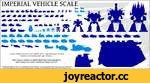 IMPERIAL VEHICLE SCAL i kkl ft R ft J? jukJ A scale comparison of selected vehicles of the Imperial Guard, Adeptus Astartes, Ecclesiarchy and Legio Titanicus. Space Marine vehicles (in lighter shade) have been enlarged to approximate a true scale. Guardsman stands 1.8m tall. All imagery, pr