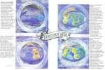 ЭПОХА СОТВОРЕНИЯ В своем первоначальном виде Лрда нредставлн.1а собой плоский диск, заключенный в сферы воздуха, света и )фира. Эти сферы были разделены невидимыми Стенами Мира (ПитЬаг) и размещены в бесконечной Пустоте (Киша). Был единый сверхконтинент, где Валар, Силы Лрды, продолжи, ш формирова
