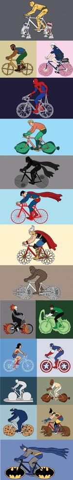 Супергерои-велосипедисты