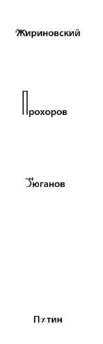 •Жириновский рохоров Зюганов Путин