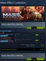 Купить Mass Effect Collection ПРЕДЛОЖЕНИЕ ДНЯ! Заканчивается через 17:55:38 -78% 175РУ6. В корзину В комплект входят реет Mass Effect Sg Экшены 3-Э-Э- рф. -78% 87 руб. Mass Effect 2 Digital Deluxe Edition ф Ролевые игры 109 руб. ййймй: ест OlOtTAL OtLUXl COITION Стоимость товаров по о