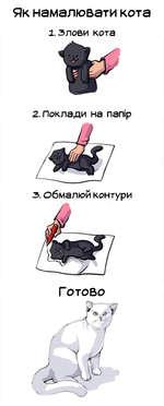 Як намалювати кота 1. злови кота 2. Поклади на nanip Г ОТОВО