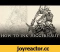 "WARHAMMER 40k Nurgle juggernaut Speed-Inking (how to ink Nurgle juggernaut) ep. 04,Gaming,Chaos,nurgle,juggernaut,anomaly world,egor klyuchnyk,warhammer,40k,Drawing,time lapse,tutorial,Speed-Inking Tutorial video ""How to ink Slaanesh from Warhammer 40k universe"" I created for the process of"