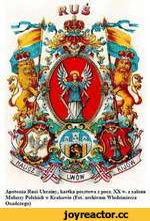 Apoteoza Rnsi-Ukrainy, kartka pocztowa z pocz. XX w. z salonu Malarzy Polsldch w Ktakowie (Fot. archfrvum Wlodzimierza Osadczego)