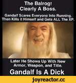 The Balrog! Clearly A Boss. Gandalf Scares Everyone Into Running. Then Kills It Himself and Gets ALL The XP. Later He Shows Up With New Armor, Weapon, and Title. Gandalf Is A Dick