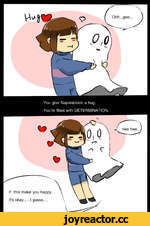 You give Napstablook a hug. You're filled with DETERMINATION.