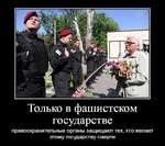Только в фашистском государстве правоохранительные органы защищают тех, кто желает этому государству смерти