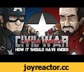 How Captain America: Civil War Should Have Ended,Film & Animation,Civil War,Captain America,Iron Man,Marvel,HISHE,how it should have ended,Bucky,Spider-Man,Ant-Man,Black Panther,Zemo,Parody,Animation,Cartoon,Avengers,Accords,Black Widow,Scarlet Witch,Falcon,War Machine,Chris Evans,Robert Downey