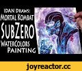 IDAN Draws MortalKombat's SubZero! From Sketch to Watercolor Painting,Howto & Style,SubZero,Gaming,Mety333,gamerz,videogames,mortalkombat,mk,morta kombat art,how to,how to draw,how to draw mortal kombat,sub zero,scorpion,artofidan,art of idan,IDAN draws,watercolor,painting,how to