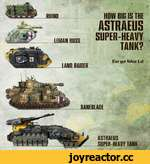 HHIND LEMAN RUSS LAMP RAWER HOW BIG IS THE ASTRAEUS SUPER-HEAVY TANK? forgellJorLd . • our** U __ / ii ASTRAEUS SUEER-HEAVY TANK