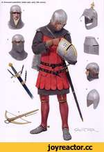 A: Armoured condottiere, Italian style, early 14th century