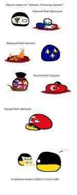 """Европа прям как """"Камень, Ножницы,Бумага"""" Гермния бьёт Францию Франция бьёт Англию Турция бьёт Австрию А Австрия может побить только себя"""