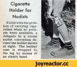 Cigarette Holder for Nudists