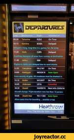 TimeDestinationFlightInformation 09:30TatooineR2D2On Time 10:15KaminoBOBADelayed Delayed a long, long time in a galaxy far, far away 11:20HothC3P0Delayed Awaiting clearance of snow from runway at destination 11:40JakkuBB8Delayed Flights to Jakku are delayed due to sand s