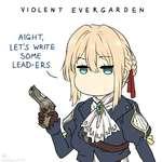 VIOLENT AIGHT, LET'5 WRITE SOME LEAD-ERS. V. I so EVEKGARDEN