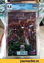 Age of Ultron #1 Marvel Comics, 5/13  CGC UNIVERSAL GRADE —,Bends story ал Hitch & Paul Neary art an Hitch cover Embossed metallic foil cover. 1621953019 llimilllllll:  j0i ooi lODiimiiioiWHn 00011 loioiuioiuouuiowiooj 1 £»010111010110010110001010110111*0101101110001011101011001011 XII01