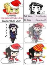 Chriomao International Padoru Day December 25th Full Name Komi Shouko Birthday December 25