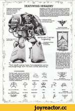 Eoglewng's personal heraldry combines Dark Angel wing with homoworld clan/ personal name totem. Repeated on right knee pad. s&r DEATHWING HERALDRY Deafhwlng ii Company 1, Iho Terminator Company, of tho Dark Angels Chapter or tho Imperial Spaco Marinos. Originally, tho Tetmlnafoa- amour was bl