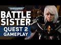 Warhammer 40K: Battle Sister Oculus Quest 2 FIRST Gameplay,Gaming,vr,uploadvr,warhammer 40k battle sister,warhammer 40k battle sister oculus quest 2,oculus quest 2 gameplay,first oculus quest 2 gameplay,warhammer 40k vr,oculus quest 2 graphics,Here's the first look at gameplay from of Warhammer 4K: