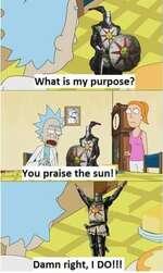 You praise the sun