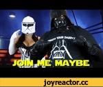 Call Me Maybe Parody By Darth Vader - Join Me Maybe - Mini-Geekody,People,,Itunes Download: http://itunes.apple.com/us/album/call-me-maybe-parody-by-darth/id536398331  http://www.youtube.com/watch?v=PD8KsvUlC7w Check out Darth Vader Making Cookies At The Link Above.   We wanted to do a mini-geekody