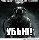 ЧТО ВЫ СДЕЛАЕТЕ С ЛЕСНЫМ ЭЛЬФОМ. ОБМАНИТЕ ИЛИ ОБВОРУЕТЕ? http://vk.com/epic_dovakin