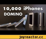 10,000 iPhone 5 Domino,Tech,,Epic 10,000 iPhone 5 Domino  showcases 10,000 iPhones (that's right TEN THOUSAND iPhones) falling neatly in patterns. These CG iPhones' feature NFC (Near Field Communications)  concept that enable content to be passed on from one iPhone screen to another.  This iPhone