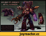 Vuujold The Flayer prouoly carries the banner or Chaos goo Slaanesh into battle. A MEMBER or THE CORRUPTED EMPEROR S CHILDREN CHAPTER. HIS BIZARRE WARPMNFECTED ARMOR UNDULATES AND WRITHES WITH THE SOULS Or HIS COUNTLESS VICTIMS. HIS VISAGE HAVING BEEN HEAVILY SCARRED BY MILLENIA Or riGHTING. VU