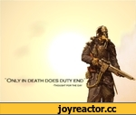 """Only in death