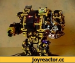 AVR Lego Robot - Dreadnought,Entertainment,,This Lego Robot is based on the model of the Dreadnought from Dawn of War (Warhammer 40k). Controlled by AVR Atmega 32 Parts: 1x Stepper, 2x RC-Servo, 1x DC-Motor, 26 x LED and few hundreds Lego Bricks :-)