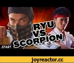 Mortal Kombat vs Street Fighter In Real Life - Ultimate Fan Fights Ep. 2,Games,,FB! http://on.fb.me/Ppt1xW RT! http://bit.ly/O0eUz0 Mobile users, click below to vote! Ryu: http://www.youtube.com/watch?v=h7LIJZ2ECeo Scorpion: http://www.youtube.com/watch?v=mlXMOsnjh5E Street Fighter's Ryu