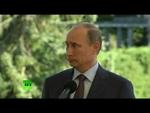 Путин выдержал паузу, отвечая на вопрос о законе против гей-пропаганды,News,,На пресс-конференции в Финляндии Владимир Путин рассказал о причинах, по которым в России принимается закон против гей-пропаганды.  Подписывайтесь на RT Russian - http://www.youtube.com/subscription_center?add_user=rtrussia