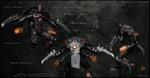 """WARHAMMER AO. □□□ Melta Bombs 4 Weaver Destruction Str^qs of Death Mandibulae * \v V Warp Spider"""" & * Warp Generator Syurikenny Gun • * / r A V \V« i > V *» /.Mk * i in Commision vAMw»rDBHosT®OH aiu.com HTTP://VAMPIRE DGHOST.DEVIANTART.COM/ VAMPIRED"""